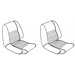 Paire de housse de siège noire GT6MK1,MK2*