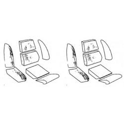 Paire de mousse de siège GT6MK1,MK2*