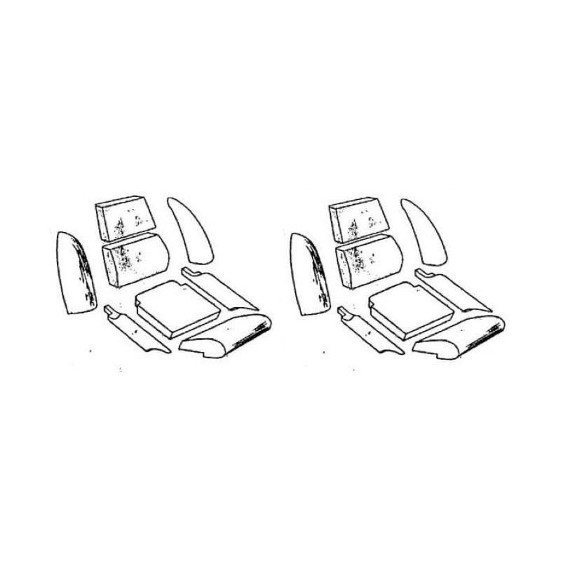 Paire de housse de siège noire GT6MK2*
