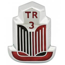 Badge émaillé rouge/noir