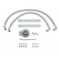 Kit montage radiateur huile avec flexibles renforcés, Triumph TR4 AIRS
