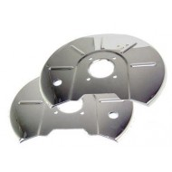 Paire de protections de disques inox