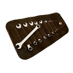 8 clés UNF, présentées dans une trousse en cuir