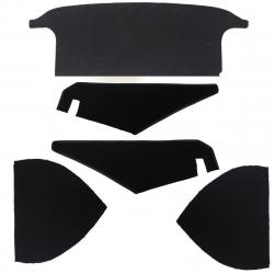 Kit garnitures noires de coffre TR2,TR3