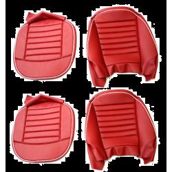 Paire de housse de siège, rouge, TR3, TR3A