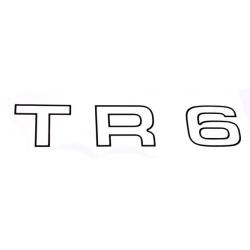 Autocollant noir, aile arrière-TR6
