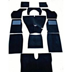 Moquette noire, nylon, bouclée, bordée