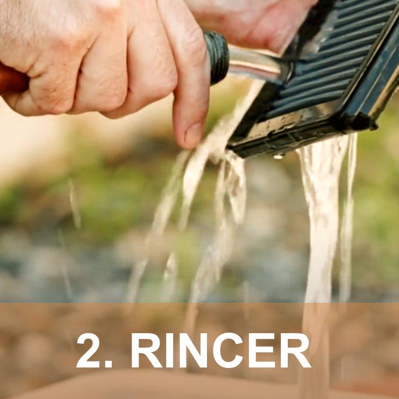 Etape 2 : Rincer